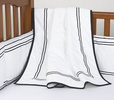 baby boy nursery bedding. so simple yet so classy.