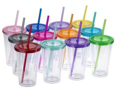 Smoothie Glasses with Lids and Straws - Smoothie Blender Guide