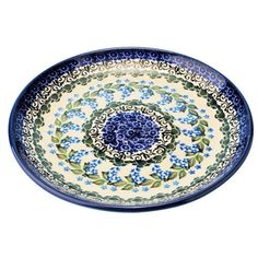 "New Polish Pottery 10"" DINNER PLATE Boleslawiec CA Pattern 1473 Euro Stoneware"