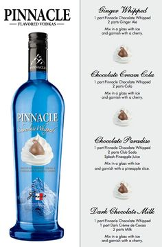 Pinnacle Chocolate Whipped.. I have a huge bottle of this stuff to go through lol