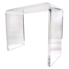 Waterfall Side Table in Lucite #lucite #table #sidetable #waterfall #furniture #interior #forthehome