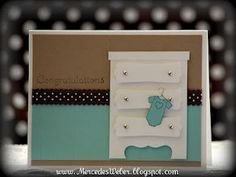 Such a cute and do-able baby card.
