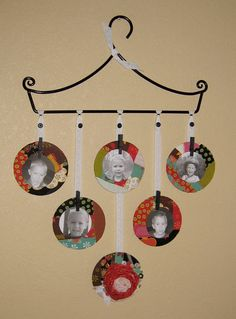 Recycled CD Picture Frames