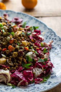 NYT Cooking: This lentil salad looks and tastes bright, thanks to a combination of tangerine juice, sherry vinegar and colorful caramelized roasted root vegetables. It works either as a main course, served with good bread and butter, or as side dish with roasted meat or fish. For the maximum visual impact, use both golden and red beets. Vegetarians can feel free to leave out the ba...