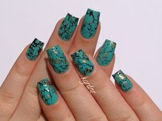 Turquoise Stone Nails + Tutorial! | Lacquerstyle