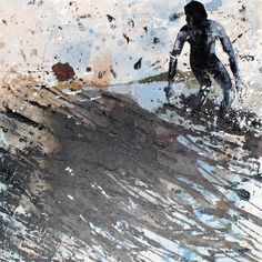 I am the ocean. Original Painting by Melanie McDonald. Art prints available.