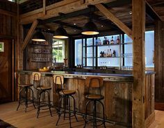 Rustic man cave bar Farmhouse Converting Old Stables Into Cool Pinterest 180 Best Man Cave Bars Images Bars For Home Man Cave Bar Amazing Man