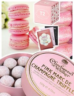 Pink champagne truffles! My dad actually bought these for me! :)