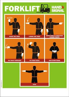Forklift Hand Signals from ASSE