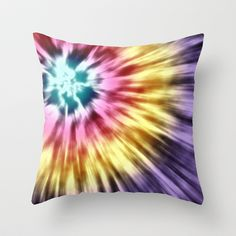 Abstract Purple Tie Dye Throw Pillow