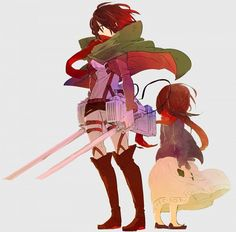 Mikasa Ackerman Tags: Anime, Fanart, Pixiv, Umehara, Fanart From Pixiv