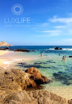 Relax at the beautiful Sea of Cortez beach during your Cabo vacation. #LuxLifeVacations