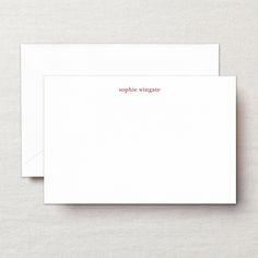 Engraved Fluorescent White Correspondence Card
