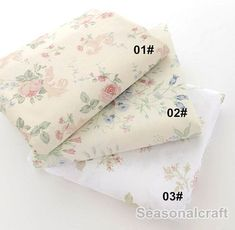 Shabby Chic Fabric Flower Floral Fabric Satin by seasonalsupplies