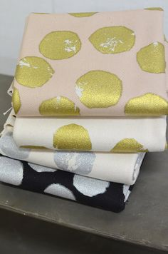"Sparkly Fabric with Gold and Silver Powders  This is a simple design fabric using abundant gold powder for its print. The ""Canvas #8"" is a thickest fabric that can be sewn using a household sewing machine. A single layer of this fabric can create a solid looking bag."