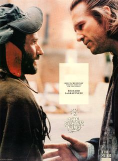 """""""The Fisher King"""" Director: Terry Gilliam • Stars: Jeff Bridges, Robin Williams,  Best Actress in a Supporting Role: Mercedes Ruehl - Brilliant!"""