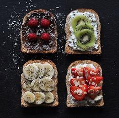 Tartines gourmandes et fruitées 🍌🥝🍓 © Le Paris de Rim.