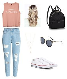 yep by eporima on Polyvore featuring polyvore fashion style H&M Converse Natalie B clothing