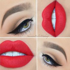 Cute Red Lipstick Makeup Ideas picture 4