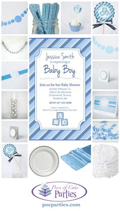 Having a boy?   Having a shower?  A complete charming party delivered to you.  You just add the cake and the food!  By Piece of Cake Parties.  Charming.  Effortless.  Affordable.