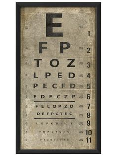 Eye Chart (White) by Artwork Enclosed on Gilt Home