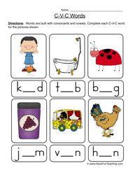 CVC Worksheet, Consonant Sounds, Spelling Worksheet, Phonics Worksheet