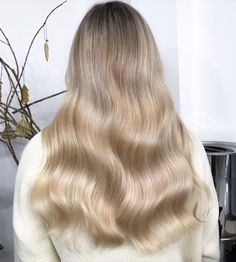 "Lisa Roe on Instagram: ""Dreamy milky blonde waves from last month 😍 winter lighting is still going to be killing me but I CANT wait to be back in the salon…"""