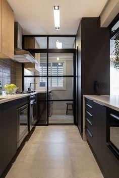Kitchen Cupboard Designs, Kitchen Room Design, Interior Design Kitchen, Home Decor Kitchen, Home Kitchens, Home Design Decor, Home Room Design, House Design, Industrial Kitchen Design