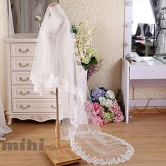 chapel veil cathedral veil Veil Wedding Veil bridal by MihiPlus