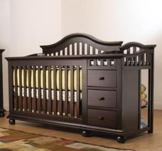 Sorelle CapeCod Crib & Changer - converts to toddler bed and nightstand too!