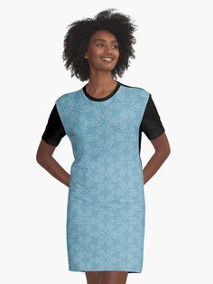 """Milky Blue #1"" Graphic T-Shirt Dress by Kettukas | Redbubble Blue Ribbon, Shirt Dress, T Shirt, Burgundy, Cold Shoulder Dress, High Neck Dress, Black And White, Unique, Dresses"
