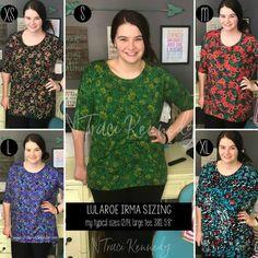 LuLaRoe Irma Sizing