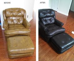 Did you know theres a special stain type paint for recolor or refinishing leather? Before and after using rub & restore product