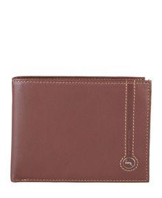 Gattinoni  - collezione uomo - portafoglio in pelle con logo. - portacarte di credito, portadocumenti, porta monete - du - Portafoglio uomo Marrone