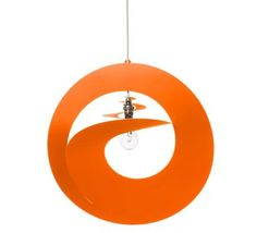 Abat-jour Orange Whirl Luminaire Design, Orange, Decoration, Transitional Chandeliers, Bed Reading Light, Modern, Lighting, Human Height, Decor
