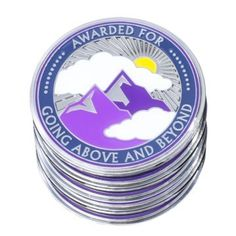 "5 Pack AttaCoin Tokens for ""Going Above and Beyond"" - Staff Appreciation Gifts - 1.75"" Metal Coins - Great for Employees, Teachers, Students, Coworkers - Include PVC Cases"