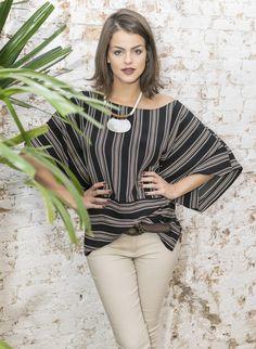 #debrummodas #verão #blusa #manga #morcego #listras #stripes #calça #moda #modafeminina #fashion #style #estilo