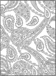 3-D Coloring Book--Paisley Designs