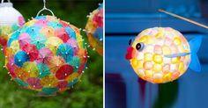 """Der Martinstag rückt näher. Höchste Zeit also, das Projekt """"Laternen basteln"""" anzugehen. Hier kommen 3 kinderleichte Anleitungen für geniale DIY-Laternen mit Lampions..."""