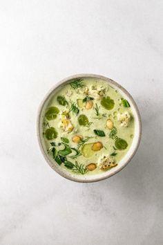 // green garlic gazpacho
