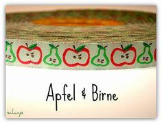 "NEU *** Retro Webband "" Apfel & Birne ""  *** NEU von schuys auf DaWanda.com"