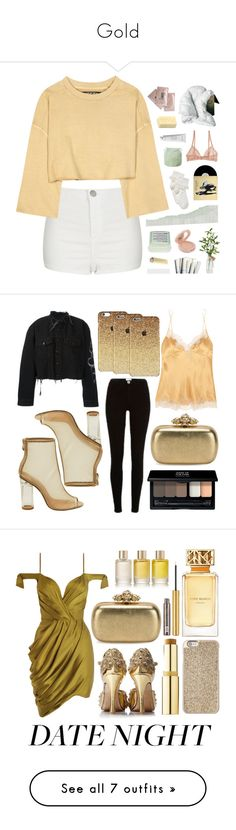 """""""Gold"""" by thormarry ❤ liked on Polyvore featuring Topshop, adidas Originals, John Lewis, Paul & Joe, The Amazing Flameless Candle, Davines, Scotch & Soda, OKA, Vetements and Byredo"""