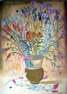 """gran florero 3"", acrylic on canvas, 70 x 100 cm. 2002 Price of original painting us$900"