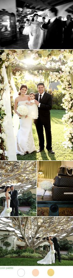 SUIT WITH TIE Stylish Santa Barbara real wedding at The Four Seasons Biltmore - Angelique and Michael Deluca - The Social Network movie producer - images by Joan Allen Weddings