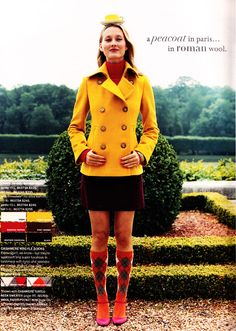 oh, mustard pea coat, will you be mine?
