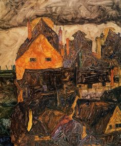 Egon Schiele, The Old City, 1912