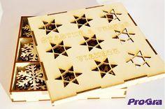 ProGra / Vianočná krabička s vločkami - 54 ks