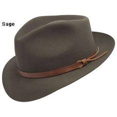 c18bc978305b27 Stetson Bronco Fedora Hat - Sage. Fedora HatWell Dressed MenHats For MenHippie  StyleFedorasMens FashionDapperSageClassic Style
