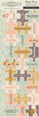 """@Authentique Paper """"Grace"""" collection textured die cut Puzzle Pieces!"""