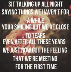 """""""For the First Time"""" - The Script"""